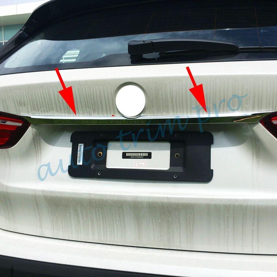 Chrome extérieur moulage arrière queue coffre couvercle couvercle décorer ajustement pour BMW F48 X1 2016 2017 2018 accessoires garniture
