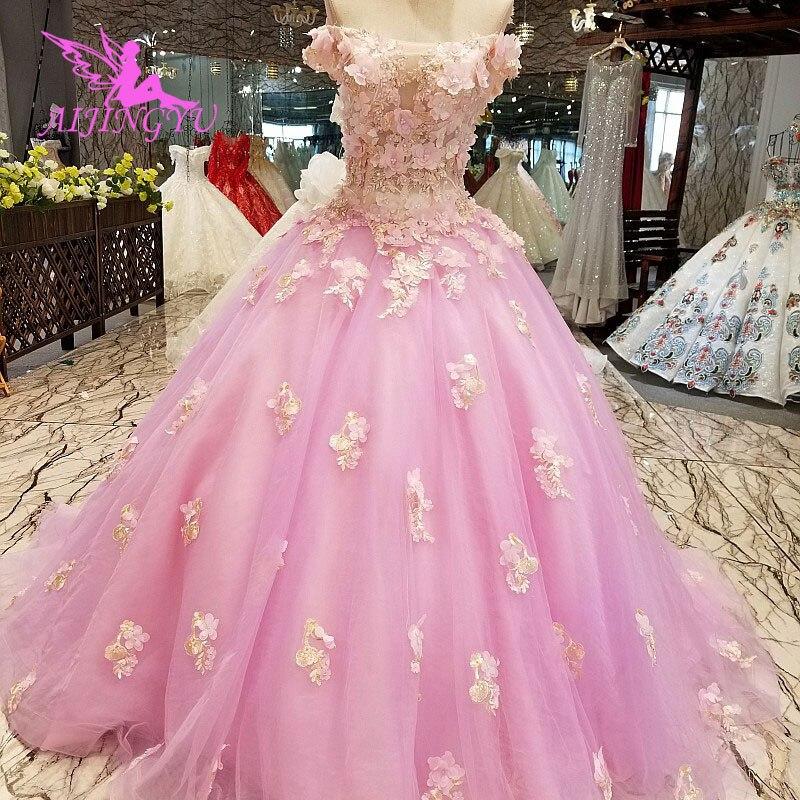 AIJINGYU robes de mariée Junior robes uniques mariée achats en ligne Designers robe de mariée robe de mariée avec luxe détachable - 4