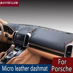 Dla Porsche Cayenne Macan Panamera Boxster/Cayman 911 skóra Dashmat pokrywa deski rozdzielczej zapobiec światło słoneczne Pad desce rozdzielczej mata parasol przeciwsłoneczny