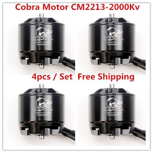 Cobra Motor CM2213-2000Kv, Brushless Motor for Drone,Fpv racing, 4pcs in 1 set, Free Shipping