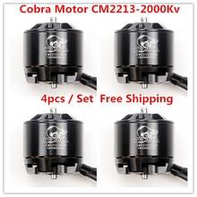 Cobra Motor CM2213-2000Kv, Brushless Motor untuk Drone, Fpv racing, 4 pcs dalam 1 set, gratis Pengiriman
