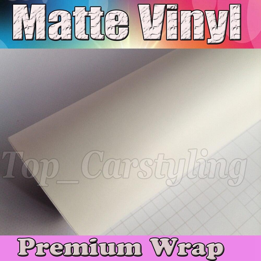 Satin Blanc Vinyle De Voiture Wrap Film Avec Air sortie Mat Vinyle Véhicule D'emballage Couvrant 1.52x30 m/Rouleau (5ftx98ft)
