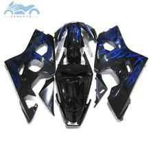 Verkleidung kits für SUZUKI 2004 2005 GSXR 600 750 motorrad sport verkleidungen 04 05 GSXR750 GSXR600 K4 K5 bule flammen ZT36s