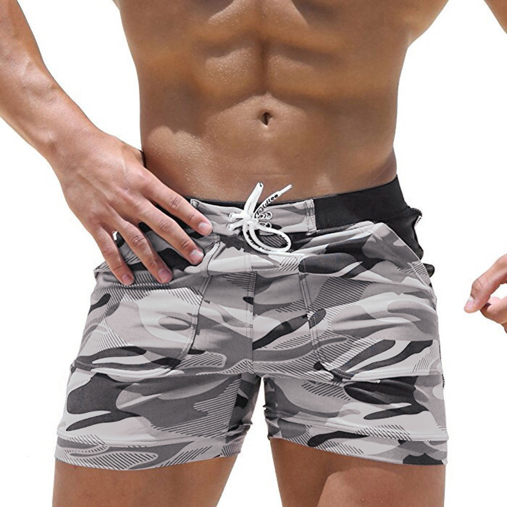 KLV Swimwear Trunks Beach Board Swimming Short Quick Drying Pants Swimsuits Mens