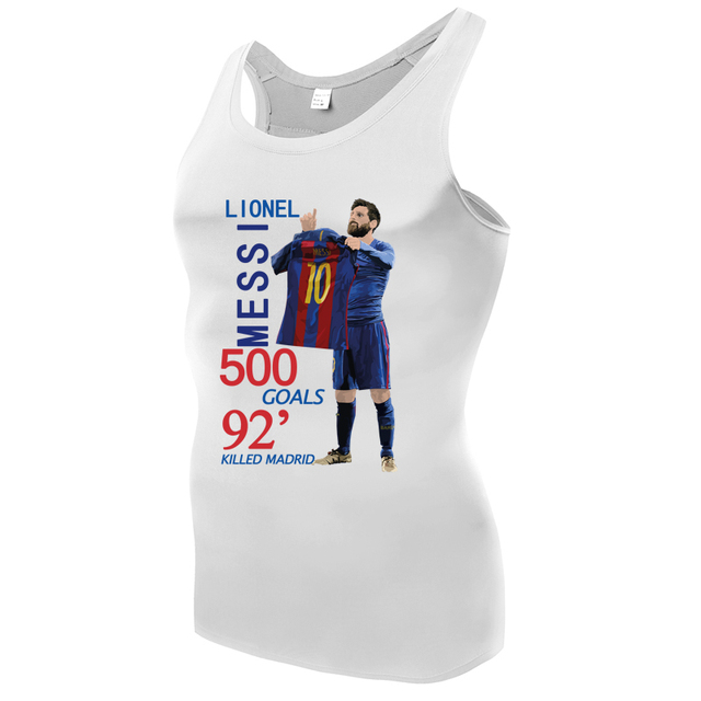 new product e75b4 6794c US $18.5 |camiseta barcelona MESSI shirts Men Compression Tops Tanks Boy  Vests lionel messi jersey Camisoles Singlets leo messi t shirt-in T-Shirts  ...