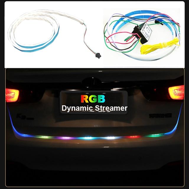 120 cm Auto Styling Rgb led lichtleiste Hinten Trunk licht RGB ...