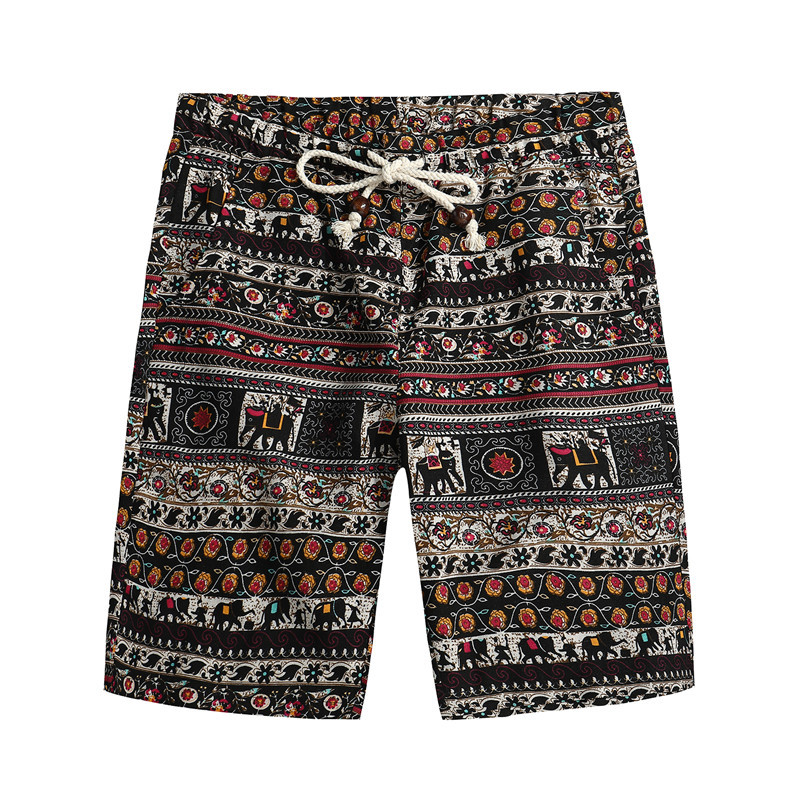 2018 Men Summer Funny Beach Shorts New Men 39 s Bermuda Shorts Fashion Casual Loose Straight Floral Pattern Shorts Praia in Board Shorts from Men 39 s Clothing