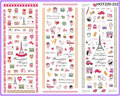 3 PACKS / LOT MOSAIC TOWER SWEET HEART LOVE VALENTINE  NAIL TATTOOS STICKER WATER TRANSFER DECAL NAIL ART HOT220-222