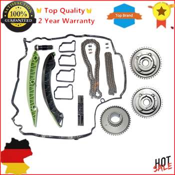AP02 Chain Kit Camshaft (Exhaust+Intake) Adjuster Actuator for MERCEDES M271 W203 W204 E250 C250 SLK250 2710503347 2710502947