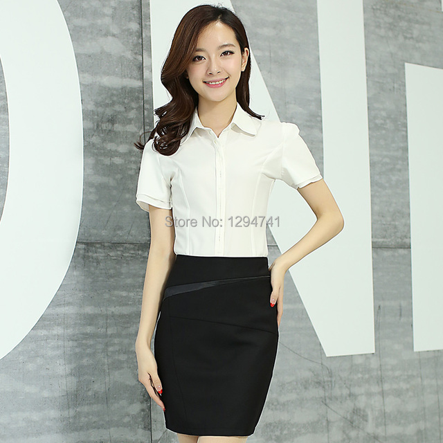 Summer Ol Short Skirts Lady Suits Female Work Wear Formal Business Casual