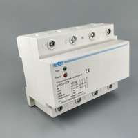 100A 380V Three Phase four wire Din rail automatic recovery over voltage and under voltage protective protection relay