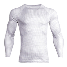 Gym Clothing Quick Dry Men's Sportswear Off White Fit Gym Sportswear T – shirt Fitness Tight Sport Suit Men Long Sleeve Shirt
