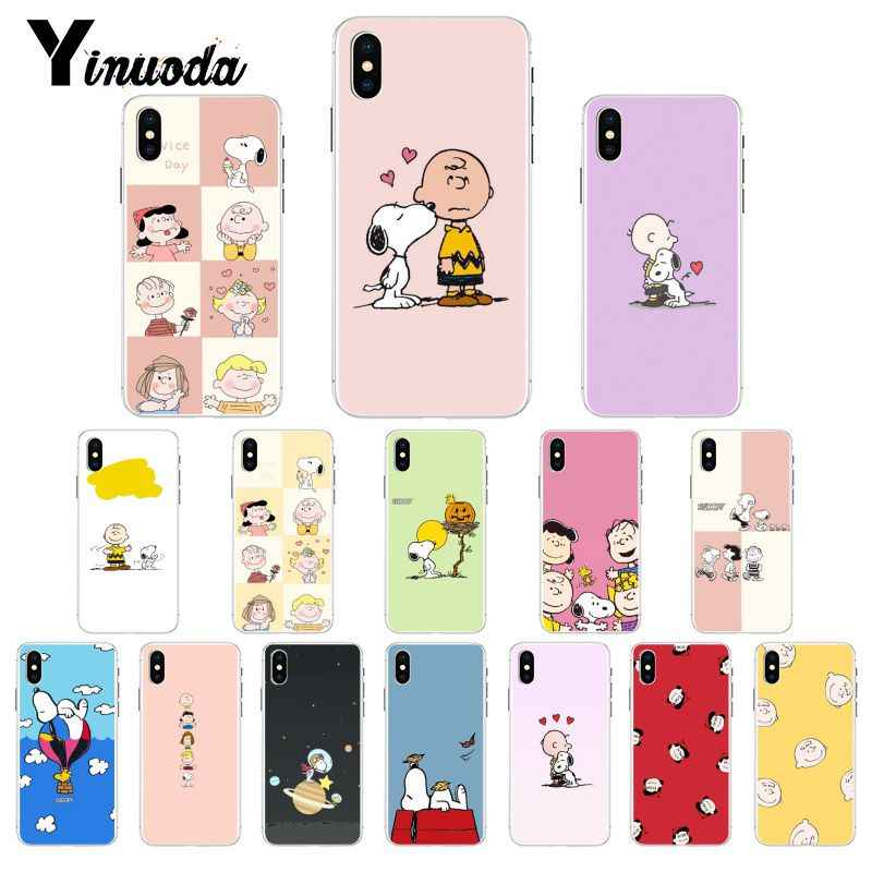Yinuoda Good Luck Snoopys Cartoon Cute DIY Luxury Phone Case Cover for iPhone 6S 6plus 7 7plus 8 8Plus X Xs MAX 5 5S XR 10