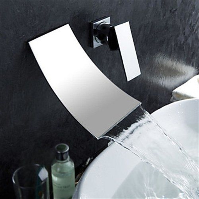 single handle bathroom sink waterfall faucet, waterfall basin mixer taps, lavatory basin mixer tap, bathroom sink faucet стоимость
