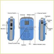 Kids Mini Walkie Talkie TongDaXin TDX-Q3 UHF 440-480MHz 16CH Scan Monitor Emergency Alarm Flashlight Two Way Radio Three Colors
