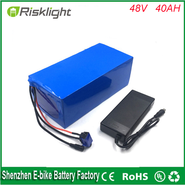DIY 48v 40ah e bike battery pack 48v 1000W lithium ion battery for electric skateboard ,electric bicycle  with Bms and charger eu us free customs duty 48v 550w e bike battery 48v 15ah lithium ion battery pack with 2a charger electric bicycle battery 48v
