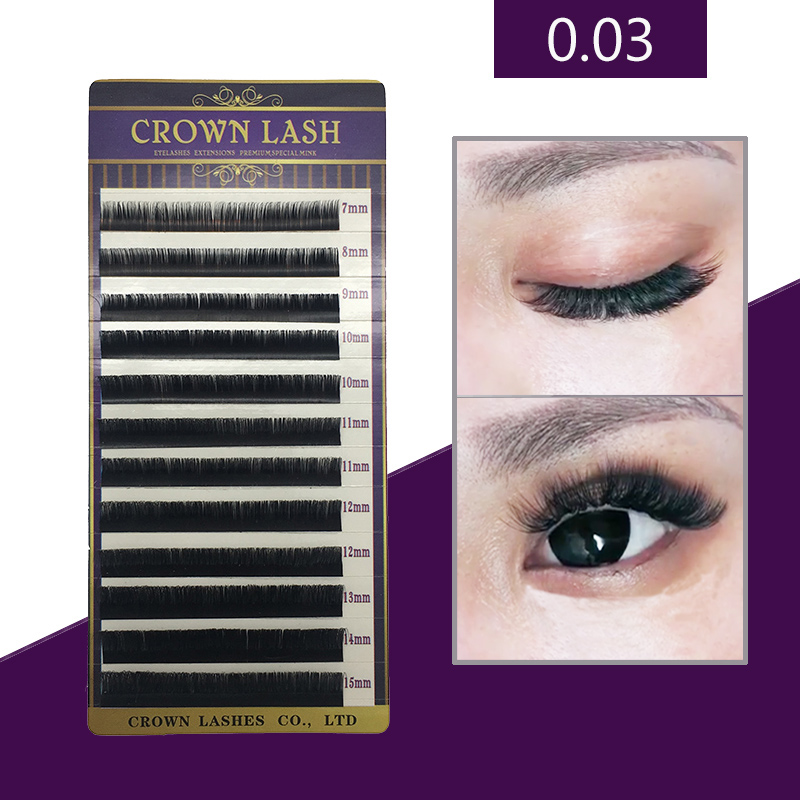 CrownLASH Black Volume Eyelash Extension B C D 0.03 7-15mm mixed size tray Russian 9D Volume Lash b p r d plague of frogs volume 2