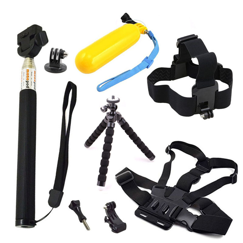 Accessories for Gopro hero 6 Tripod for Go pro 5 4 3 2 Straps Mounts for Xiaomi Yi 4K SJCAM SJ4000 EKEN H9 Action Camera