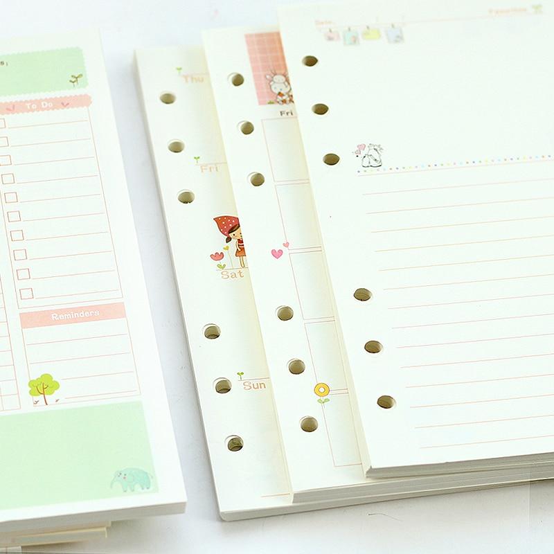 Mercii Diary vullingen A5 A6 spiraal notebook vervangen papier core 6 - Notitieblokken en schrijfblokken bedrukken - Foto 1