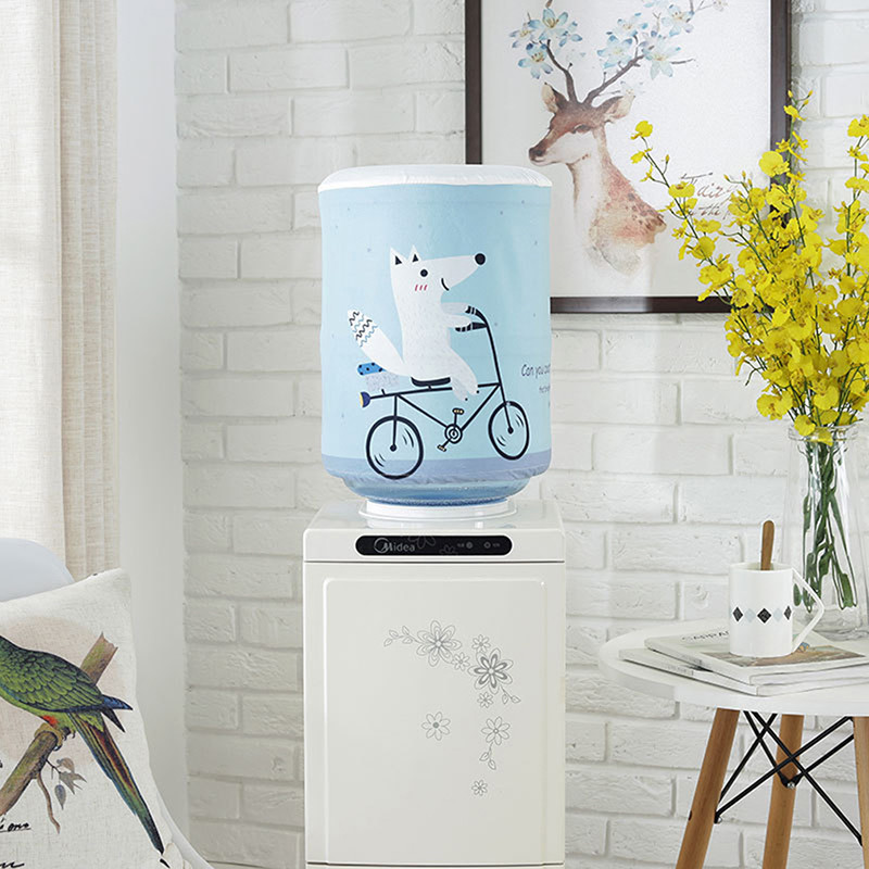 New Printed Cartoon Animal Cloth Art Drinking Fountains Barrels Water Dispenser Dust Cover Household Merchandises Protector