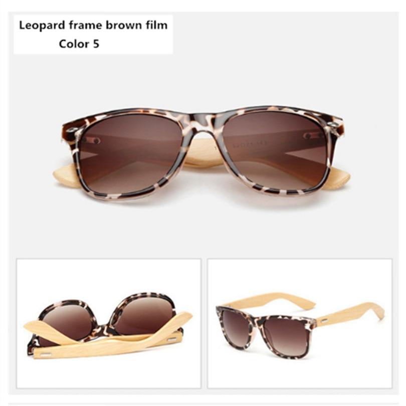Bamboo Sunglasses Men Women Travel Goggles Sun Glasses Vintage Wooden Leg Eyeglasses Fashion Brand Design Sunglasses Male Female 16