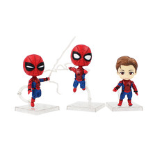 3 pçs/lote 9 cm Avengers Spiderman Toy Figura Super Hero Spider Man Peter Parker Modelo Bonecas(China)