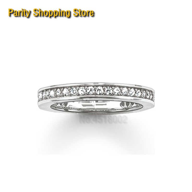 طومasrs1154 صف واحد خاتم مجوهرات فريدة للنساء 2015 Ts هدية في الفضة مطلي الخطوبة المعاصرة