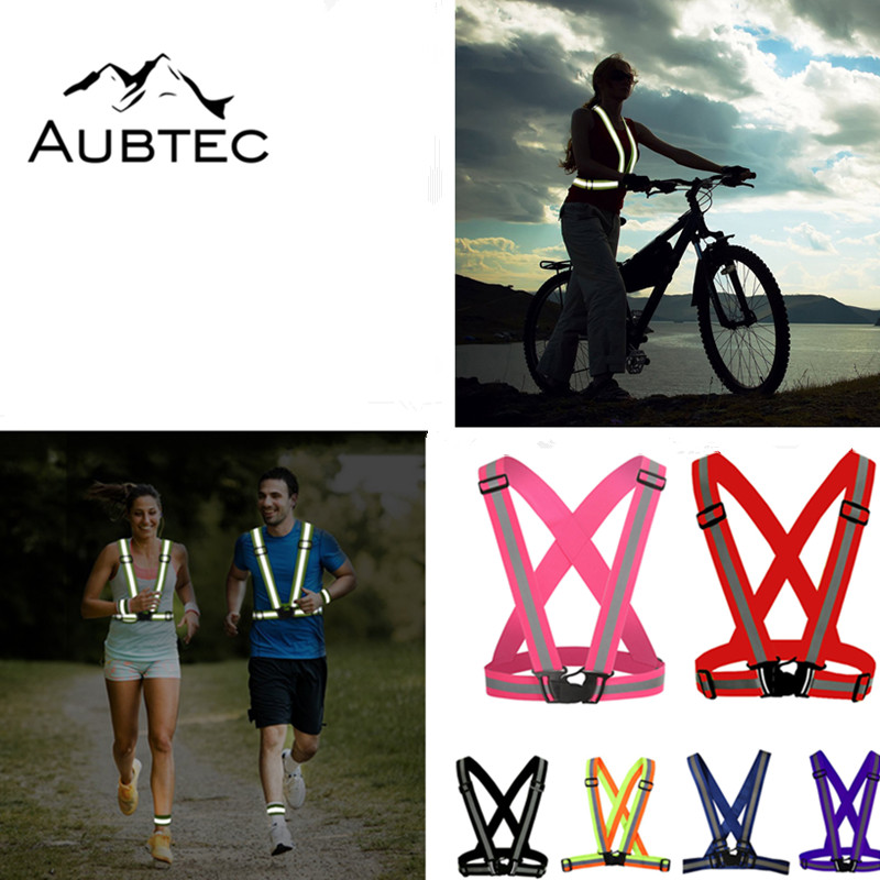Unisex Running Light Cycling Safety Vest Bike Bicycle Lights Reflective Cloth For Night Riding Jogging Fishing Accessories