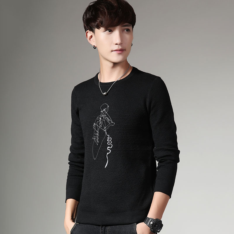 Winter Sweater Men 2017 New Autumn Hot Sale Top Design Fashion Patchwork Cotton Soft Pullover Men O-neck Casual Brand Clothing