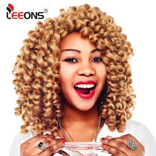 Leeons Jumpy Wand Curl Hair Extension For Braids Jamaican Bounce Crochet Jumbo Braid Synthetic Braiding Women