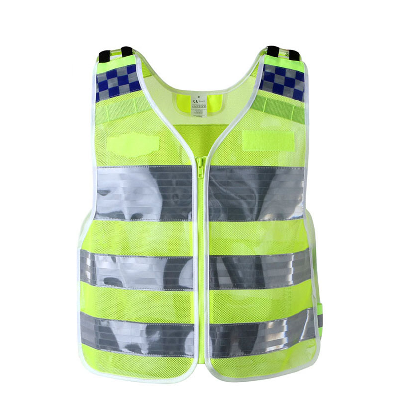 Reflective Vest High visibility Safety Vest Breathable Mesh Workwear Short Style Work Driving Security clothing reflective vest antistatic clothing gas station factory work safety clothes breathable grid tops vest static resistance workwear