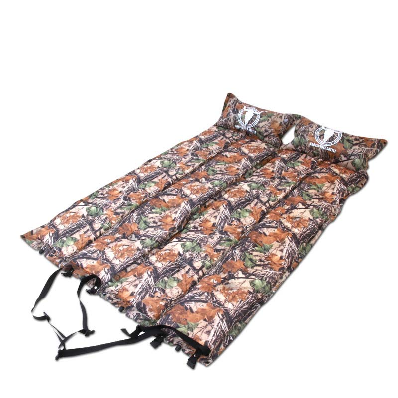 ФОТО Automatic Inflatable mattress beach mat camping mat Ultralight lengthened widened camouflage picnic mat fold pillows spliced