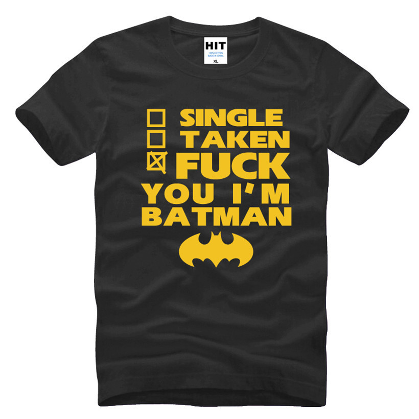 Funny Spoof Movie BATMAN Letter Printed Mens Men T Shirt Tshirt Fashion 2016 New O Neck Cotton T-shirt Tee Camisetas Hombre image