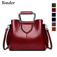 Yonder vintage ladies hand bags china designer luxury leather handbags women wine red black crossbody shoulder bag female 2019