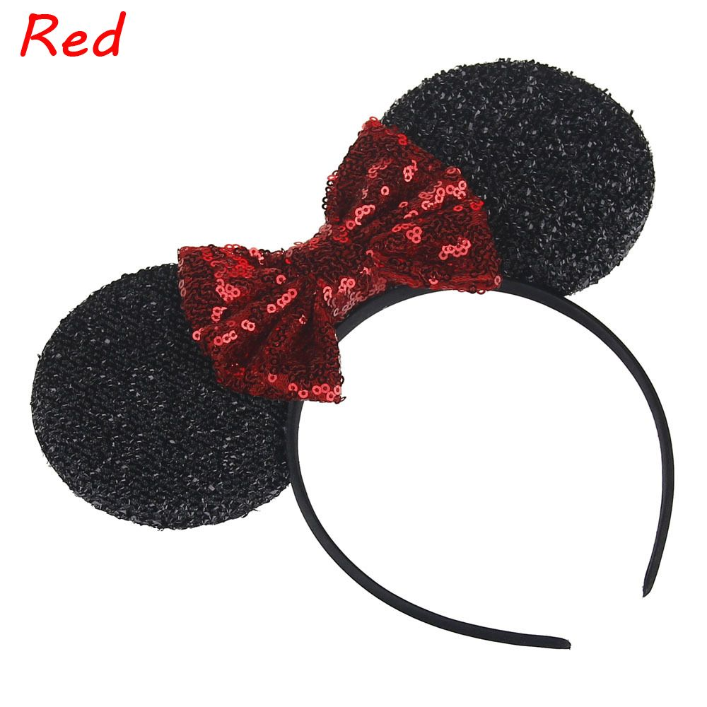 1 PC Fashion Headbands Mouse Ears Hair Hoop Bowknot Headwear Lovely Girls Hair band 2017 New hair accessories 12pcs hair accessories mickey minnie mouse ears solid black sequins headbands headwear for boy girl birthday party celebration