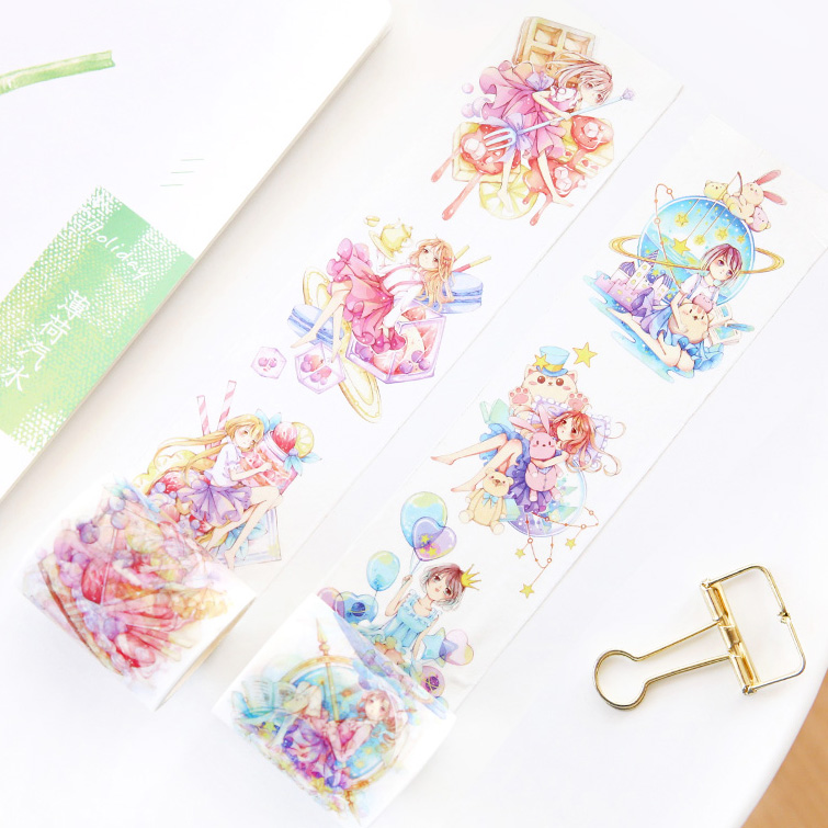 Jamie Notes Fantasy World Crepe Tapes Washi Tape 5cm Notebook Planner Scotch Decorative Tape Kawaii Stickers Korean Stationery topshop jamie