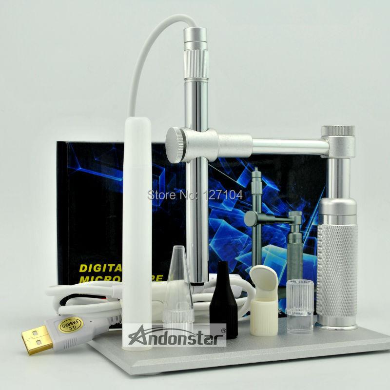 HD 2-МЕГАПИКСЕЛЬНАЯ USB микроскоп 500x 8LED usb Цифровой Микроскоп лупа Камеры Металл Стенд Основание pcb инспекции камеры