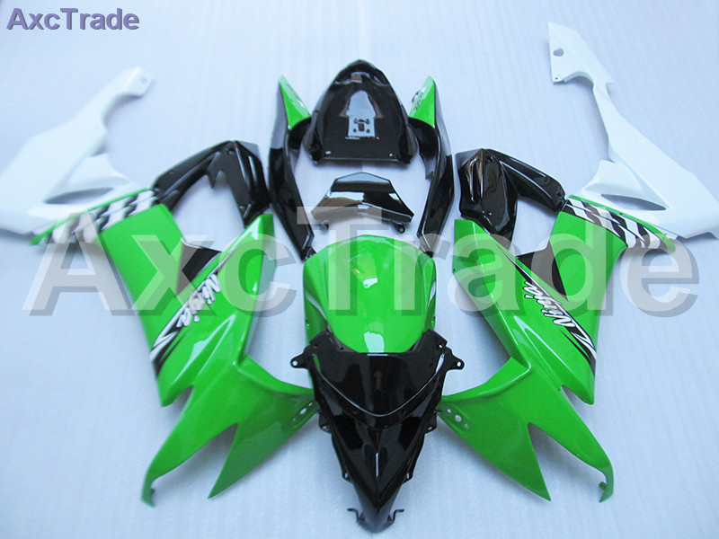 Custom Made Motorcycle Fairing Kit For Kawasaki Ninja ZX10R ZX-10R 2008 2009 2010 08 09 10 ABS Fairings fairing-kit Green Black black moto fairing kit for kawasaki ninja zx14r zx 14r zz r1400 zzr1400 2006 2007 2008 2009 2010 2011 fairings custom made c549