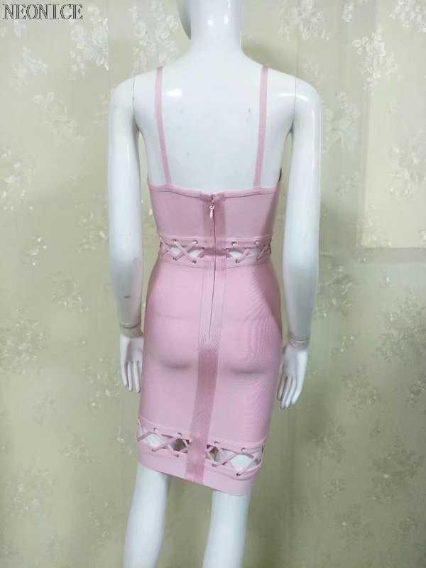 2017 yaz yeni bandaj elbise streç sıkı gece kulübü bayanlar doğum günü parti yemeği moda seksi kalça bilezik içi boş orange pembe