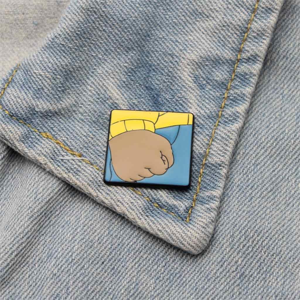 Arthur 'S Fist Meme Paduan Seng Enamel Pins Trendi Medali Lencana Ransel Kemeja Pakaian Tas Bros Lencana untuk Pria Wanita e0346