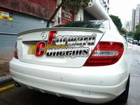 FOR 2011 2013 W204 C CLASS COUPE REAR WING TRUNK SPOILER