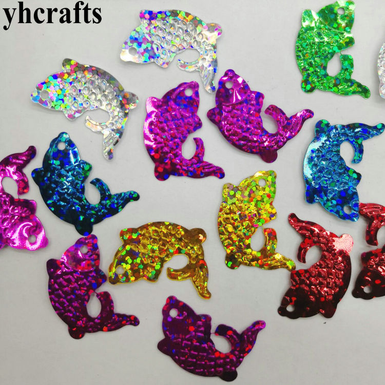 20gram/Lot 20x25mm Fish Sequins.Craft Material Kindergarten Arts And Crafts Intelligence Creative Activity Item Kids Handy Diy