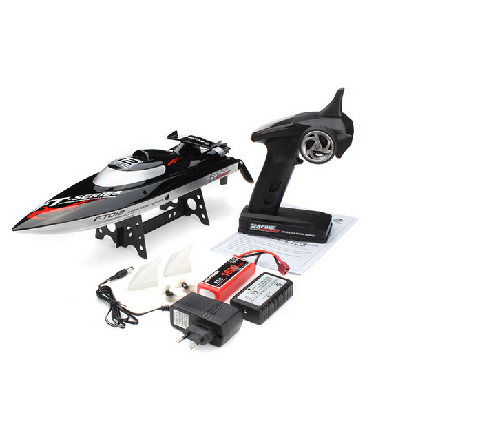 Hot Sale FT012 2.4G Brushless Upgraded FT009 RC Racing Boat RTR Speedboat Black Colot F15278 ft012 15 brushless esc spare parts for ft012 rc racing boat