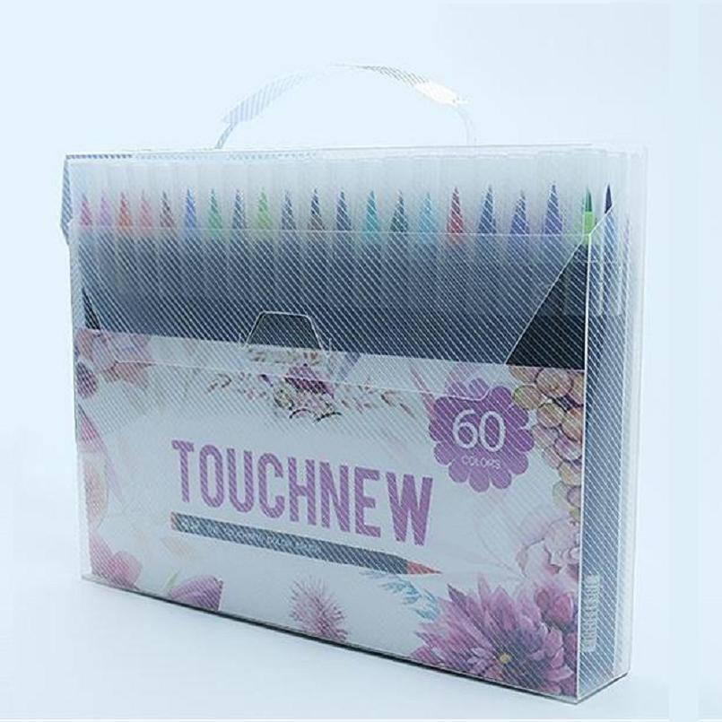 High quality 60 colors watercolor brush pen soft tip art marker pen drawing supplies touchnew 60 colors artist dual head sketch markers for manga marker school drawing marker pen design supplies 5type