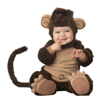 Baby Boys Toddler Infant Cuddly Cute Plush Monkey Fancy Dress Costume