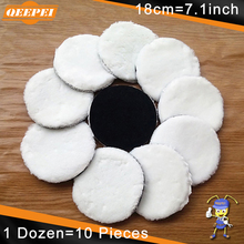 hot deal buy qeepei 10pcs paint care 180mm wax polishing pad polish 3m waxing wool polisher car styling dent repair tools vernis plasti