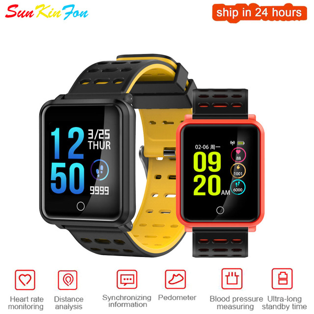 US $27 99 |For OPPO R17 Pro Find X R15 A7x A5 Super Definition Large Screen  Sports Smart Watch Heart Rate Blood Pressure Monitor Smatwatch-in Smart