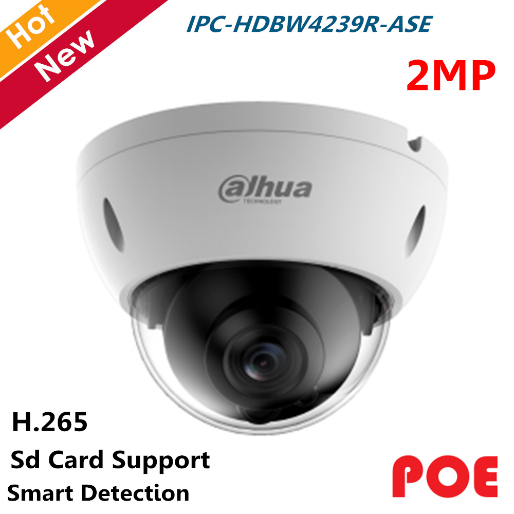 Dahua POE Full Color Starlight IP Camera 2MP IPC-HDBW4239R-ASE H.265 H.264 Smart Detection And SD Card Supported Camera Ip