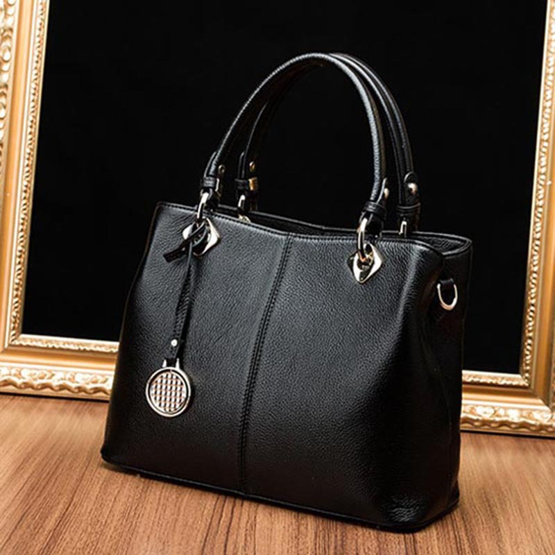Real Cow Leather Lady Handbags Women Genuine Leather Bags Totes Messenger Bags Hign Quality Designer Luxury Brand Bag Sac A Main