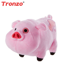 Tronzo 18cm Gravity Falls Plush Toys Dipper Mabel Pet Pig Waddles Figure Dolls Collection Stuffed Pig Easter Gift For Children